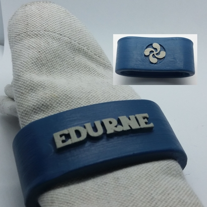 EDURNE 3D Napkin Ring with lauburu
