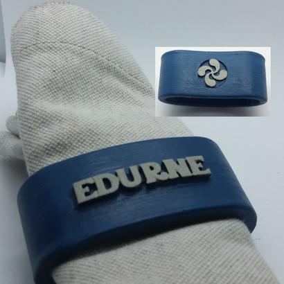 EDURNE 3D Napkin Ring with lauburu