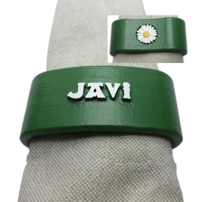 JAVI 3D Napkin Ring with daisy