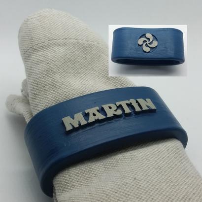 MARTIN 3D Napkin Ring with lauburu