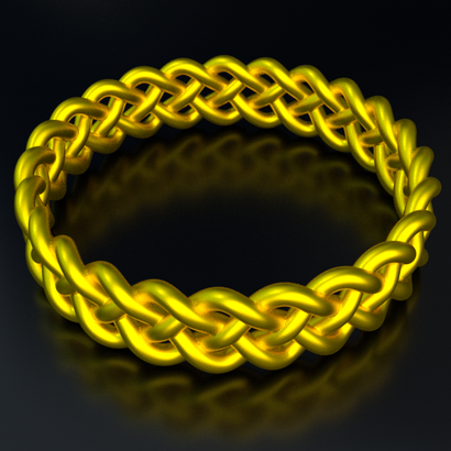 Ring CrossBend (Size 9 US Standard)