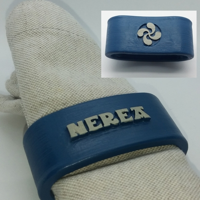 NEREA 3D Napkin Ring with lauburu