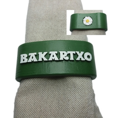 BAKARTXO 3D Napkin Ring with daisy
