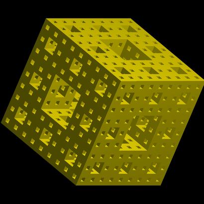 Éponge fractale de Sierpinski-Menger itération 3