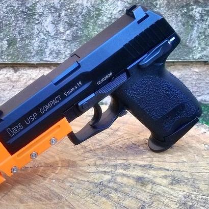 Match Weight Lara Croft Compensator for USP Compact Airsoft Gun