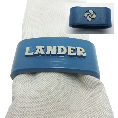 LANDER 3D Napkin Ring with lauburu