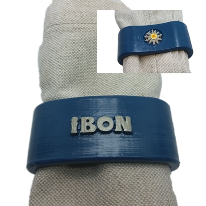 IBON 3D Napkin Ring with eguzkilore