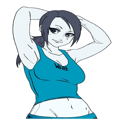 bas-relief-anime-wii-fit-good-woman