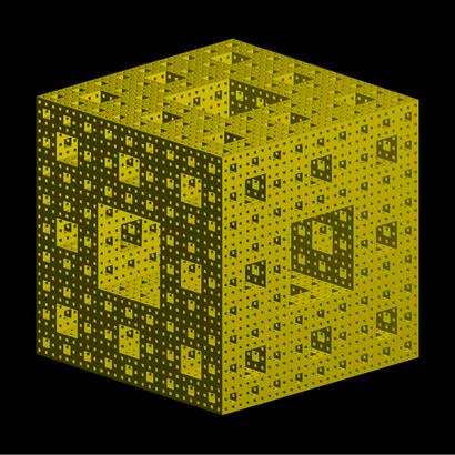 Éponge fractale de Sierpinski-Menger itération 4