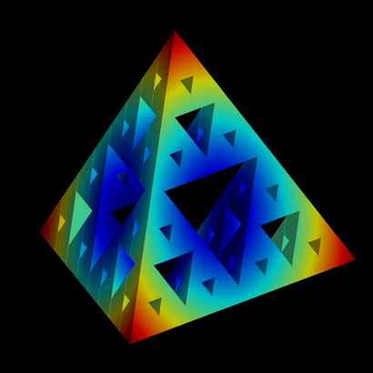 Sierpinski tetrahedron level3