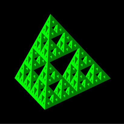 Sierpinski tetrahedron iteration 4