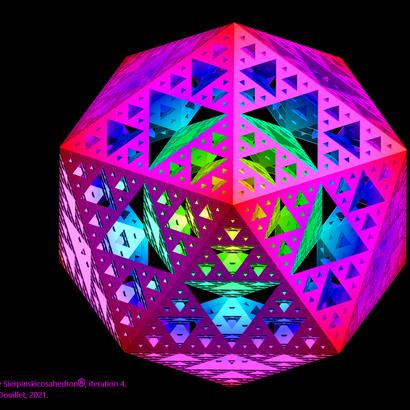 Sierpinski icosahedron iteration 4 / Sierpinskicosahedron