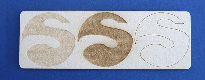 laser engraving cardboard